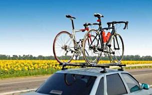 Voiture et vélos départ vacances