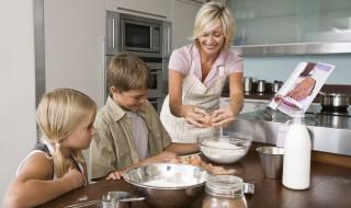 Préparation gâteau avec les enfants