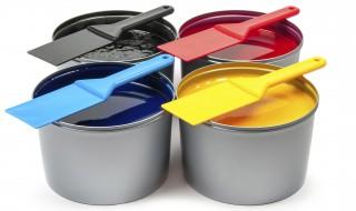 Pots peinture couleurs pinceaux
