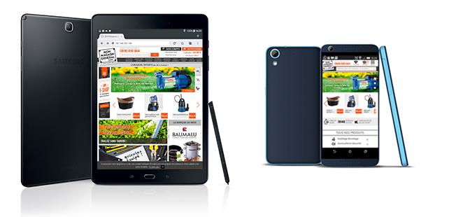 Nouveau site tablette mobile responsive