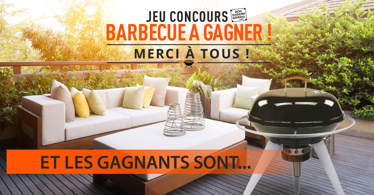 concours barbecue mon magasin g n ral les gagnants. Black Bedroom Furniture Sets. Home Design Ideas