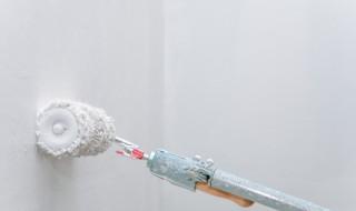 Rouleau de peinture et ingrédients pour faire sa peinture maison