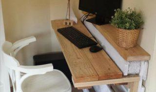 Meubles en palettes - le bureau 2