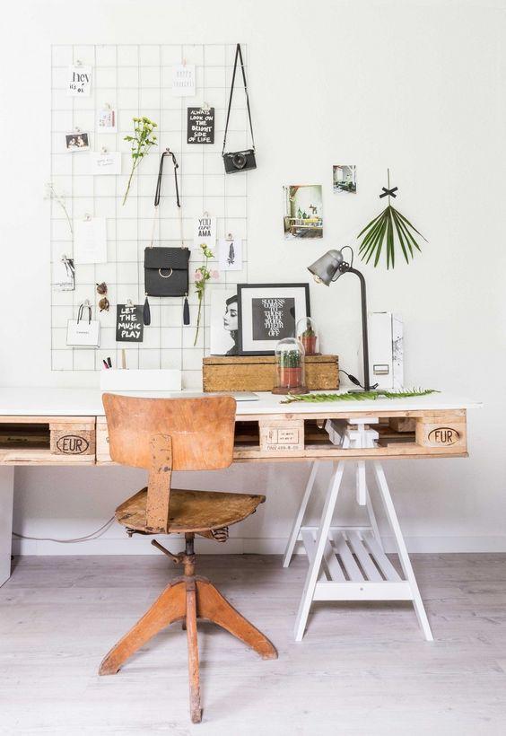 Meubles en palettes - le bureau
