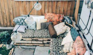 Meubles en palettes - Le salon de jardin