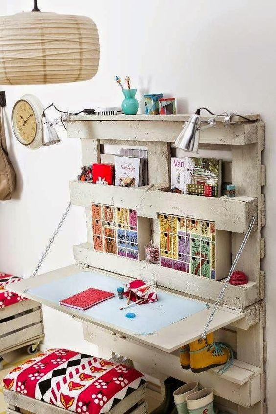 Meubles en palettes - Le bureau 3