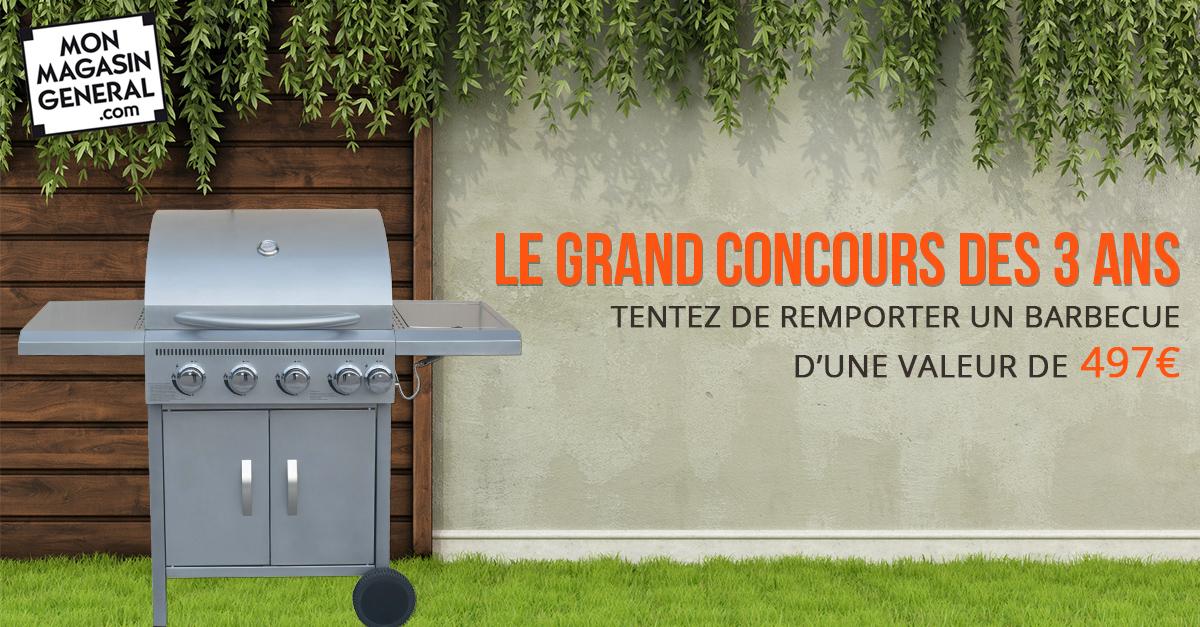 Concours : remportez un barbecue avec Mon Magasin Général