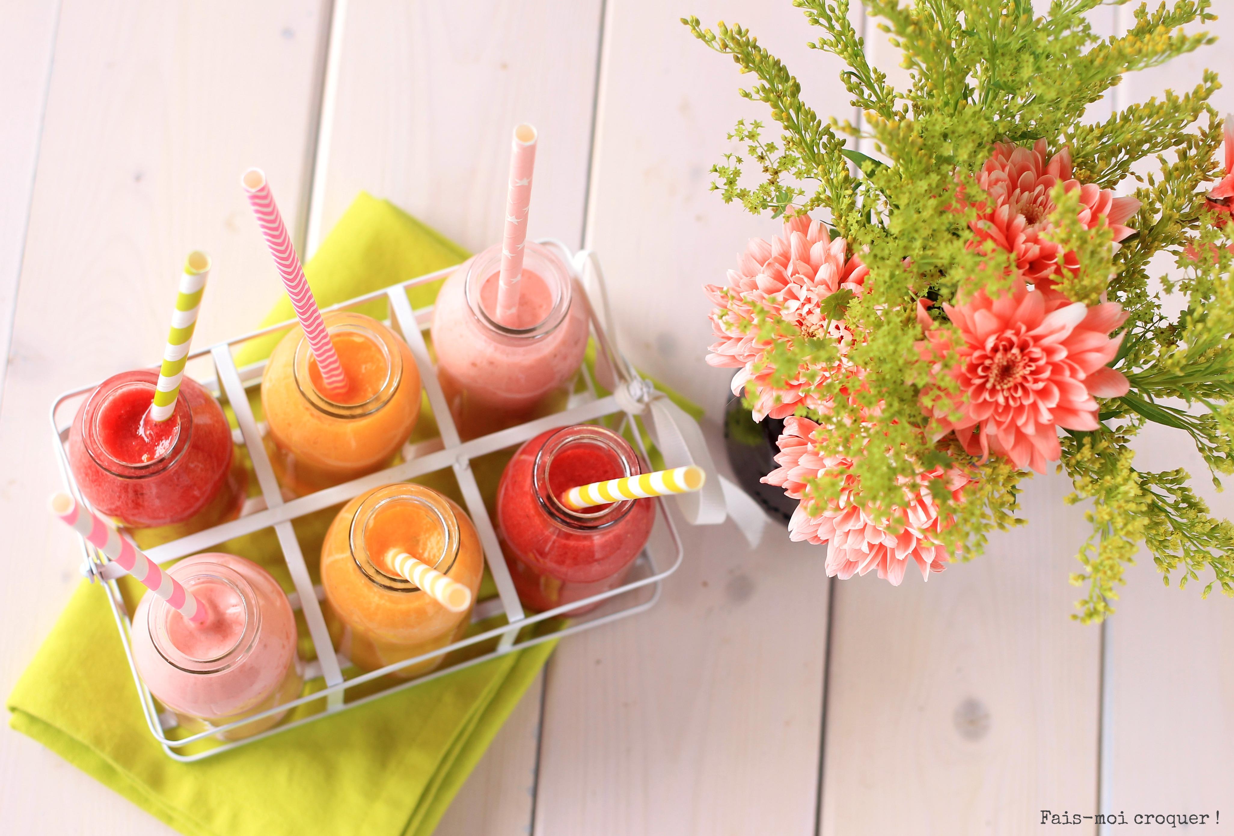 smoothies pour l'été : fraise citron coco