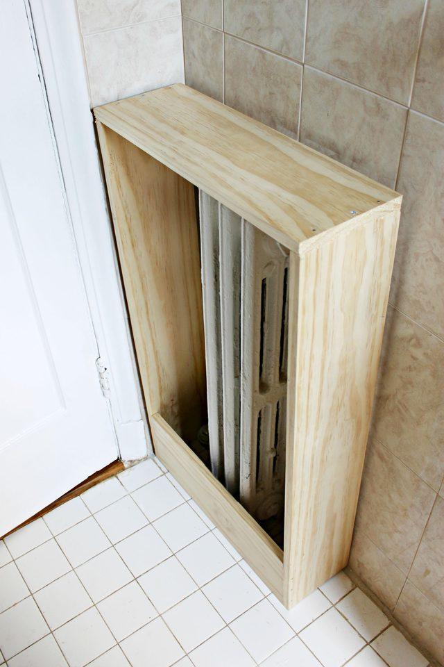 Structure en bois pour fabriquer un cache-radiateur
