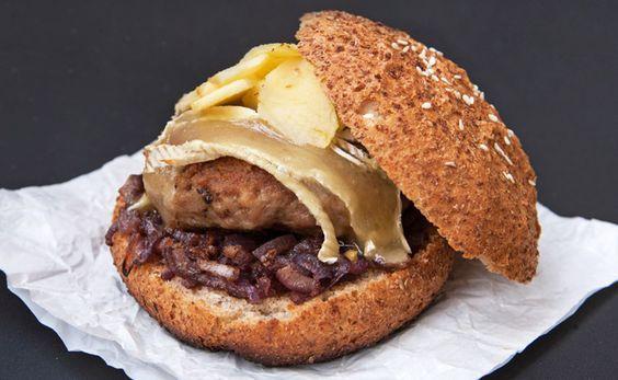 recettes de burgers maison - burger normand
