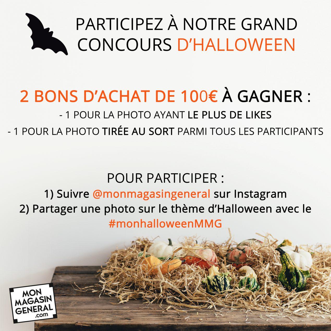 Concours Halloween Instagram bon d'achat