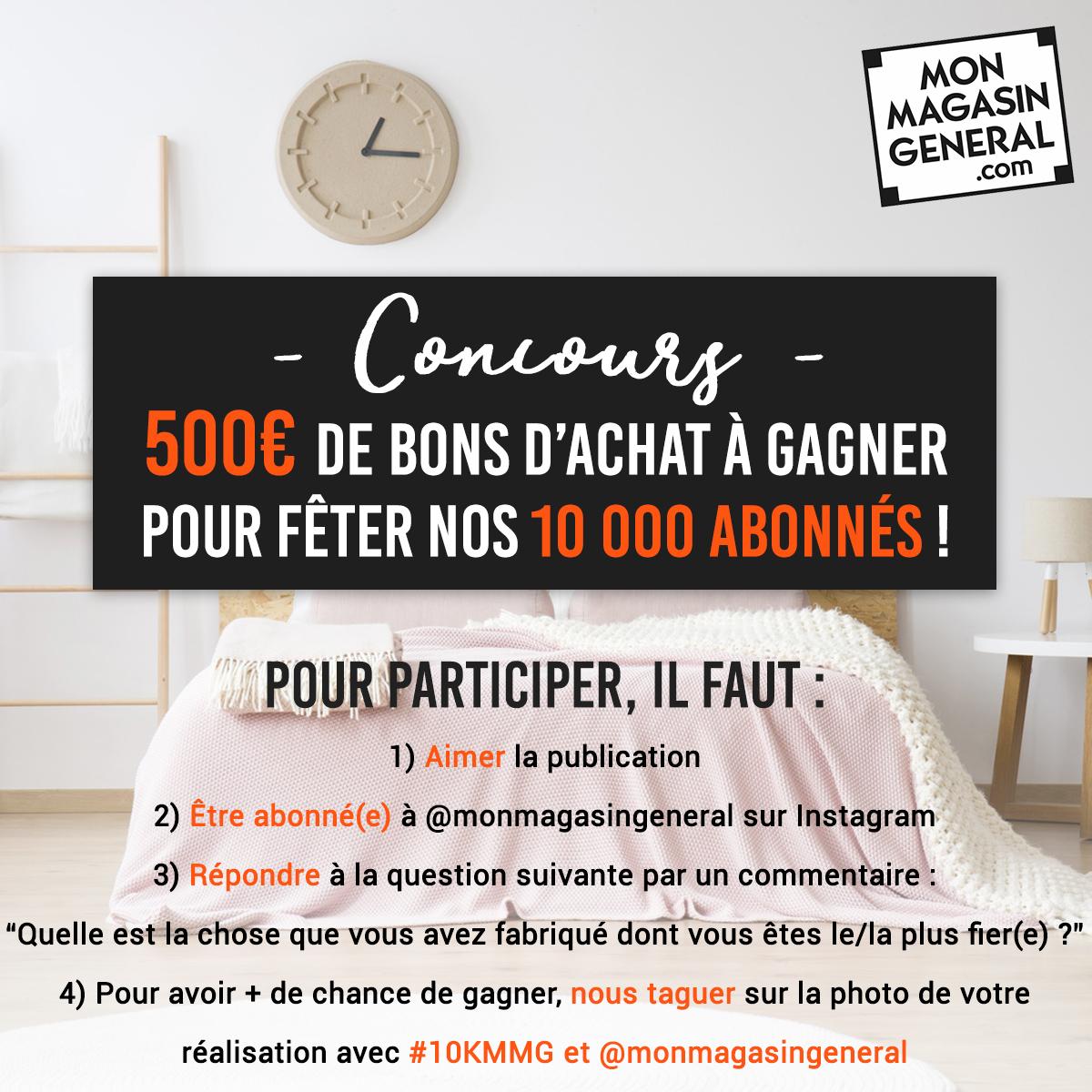 Le concours Instagram de Mon Magasin Général