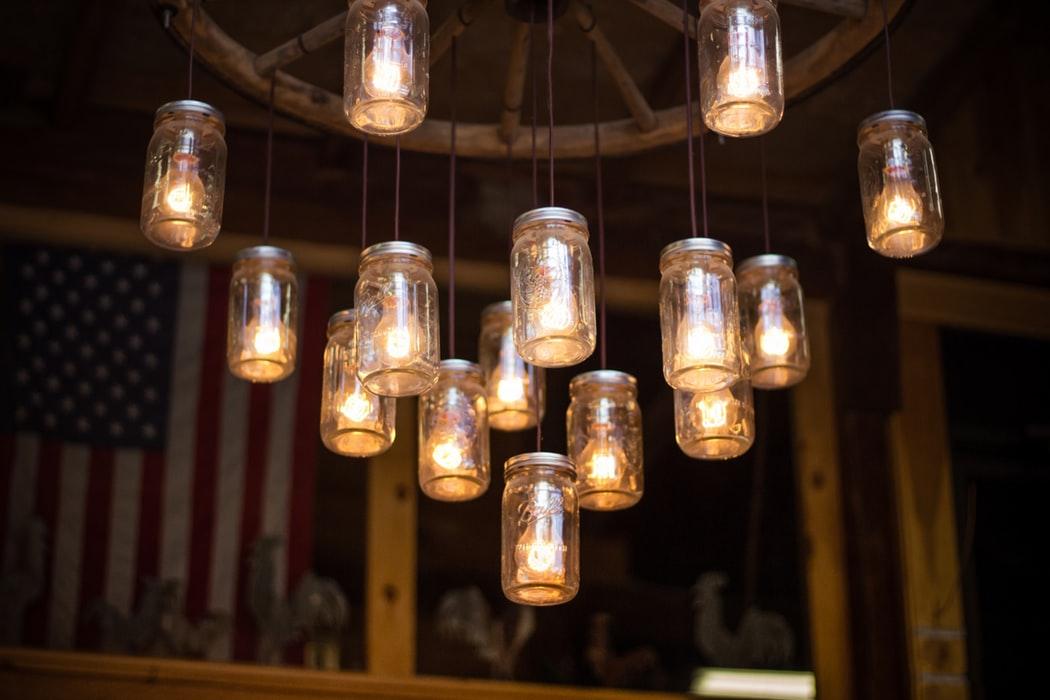 fabriquer une lampe dans un bocal en verre